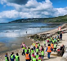 Fossil Hunting ~ Charmouth by Susie Peek