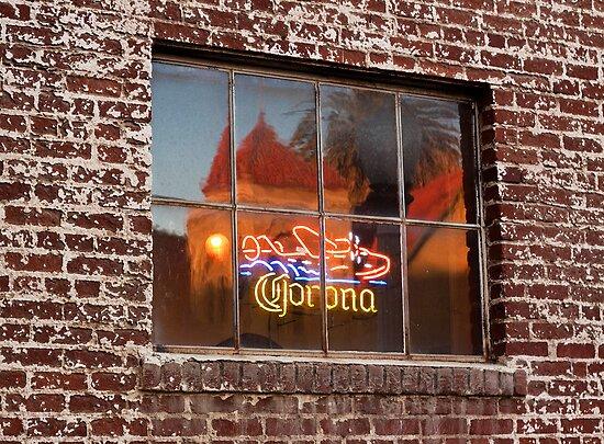 Corona Neon Window Sign by Buckwhite