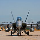 F 18 F/A Jet on the Tarmac by Buckwhite