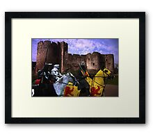A Knight's Quest Framed Print