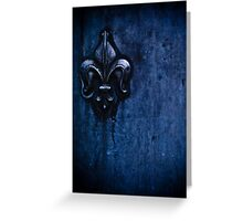la porta blu Greeting Card
