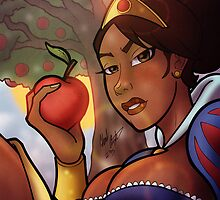 Ebony Black, African American Snow White by illumistrations