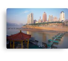 . . the port at Chong Quin Metal Print