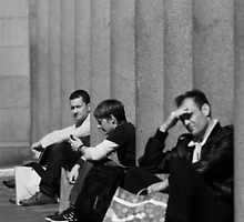 Take a break, Covent Garden, London 2011 by Timothy Adams