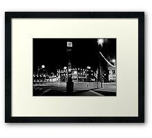 Town Square Somewhere in Michigan Framed Print