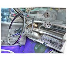 Steering Wheel of a 1962 Chevy Poster