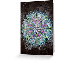 Mandala : Full Moon Eclipse Greeting Card