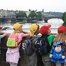 Children on Charles Bridge, Prague by Indrani Ghose