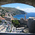 Window view of Dubrovnik by machka