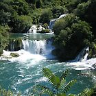 Krka waterfalls at Krka National Park, Croatia. by machka