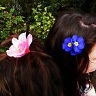 Flowers in hair by colettelydon