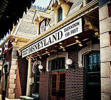 disneyland train station by bellaillume