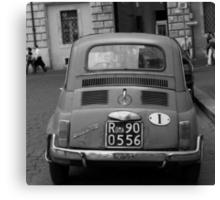 Fiat in Rome Canvas Print