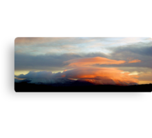 Sunset over the Galtees Canvas Print