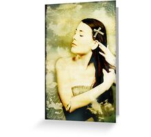 Girl With Ribbon Greeting Card