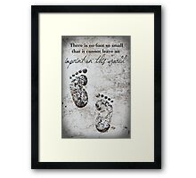 Tiny Footprints Framed Print