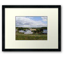 An Amish Community Framed Print