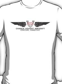 Chance Vought Aircraft Logo (Black) T-Shirt