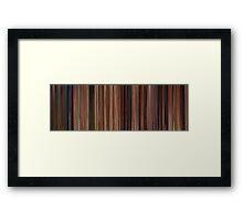 Moviebarcode: Ratatouille (2007) Framed Print