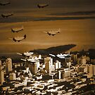 Planes over Miami  by ArtbyDigman