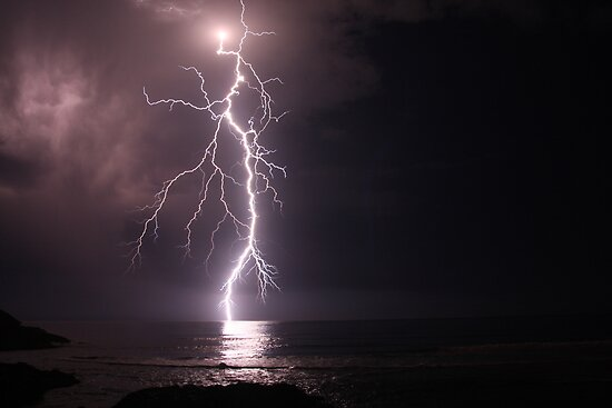 Lightning out at sea by Shane Ocean