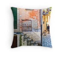 A walk Throw Pillow