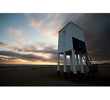 Lighthouse sunset Photographic Print