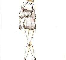 Glam Rock Chic- fashion illustration by modaalena