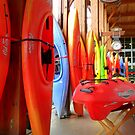 Red Kayaks by Elaine Bawden