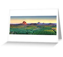 Glasshouse Mountain Panoramic Greeting Card