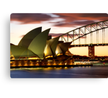 Sydney Icons Closeup Canvas Print
