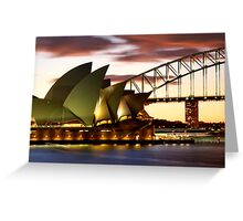Sydney Icons Closeup Greeting Card
