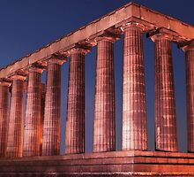 Edinburgh National Monument at Night by Michael Neal