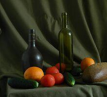 Naturmort mit Apfelsine by viktor kreker