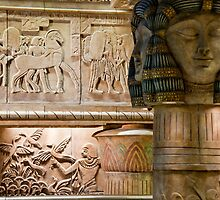 Egyptian Carvings And Columns by phil decocco