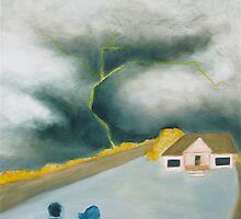 Big skies: watching the storm by Jill Alo