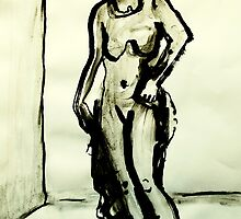 sculpture of female form by donnamalone