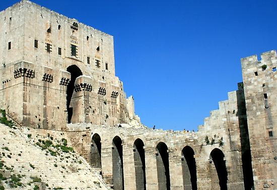 Citadel, Aleppo, Syria by Justine Chesterman