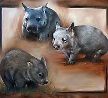 """Wombat Montage - The Three Species"" by Michelle Caitens"