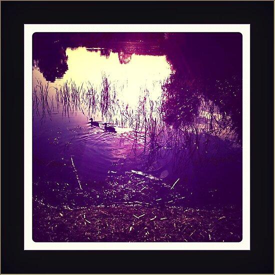 dusk lake by vampvamp