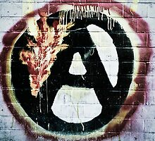 'Anarchy' sign painted on wall in Berlin, Germany by ingojez