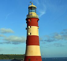 Plymouth Hoe Lighthouse, UK by Neil Hinds