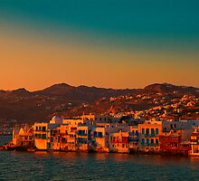 Greece. Mykonos. Little Venice at sunset. by vadim19