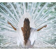 White Meditation Photographic Print
