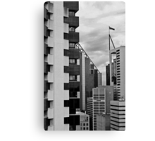 High Rise Geometrics in Black and White Canvas Print