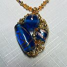 Cobalt Blue Pendant by Erica Long