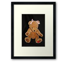 Teddy Bear in Bows Framed Print