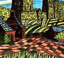 117 - BAMBURGH DESIGN - DAVE EDWARDS - WATERCOLOUR - SEP 2003 by BLYTHART
