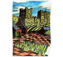 117 - BAMBURGH DESIGN - DAVE EDWARDS - WATERCOLOUR - SEP 2003 Poster