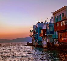 Greece. Mykonos. Little Venice. Twilight. by vadim19